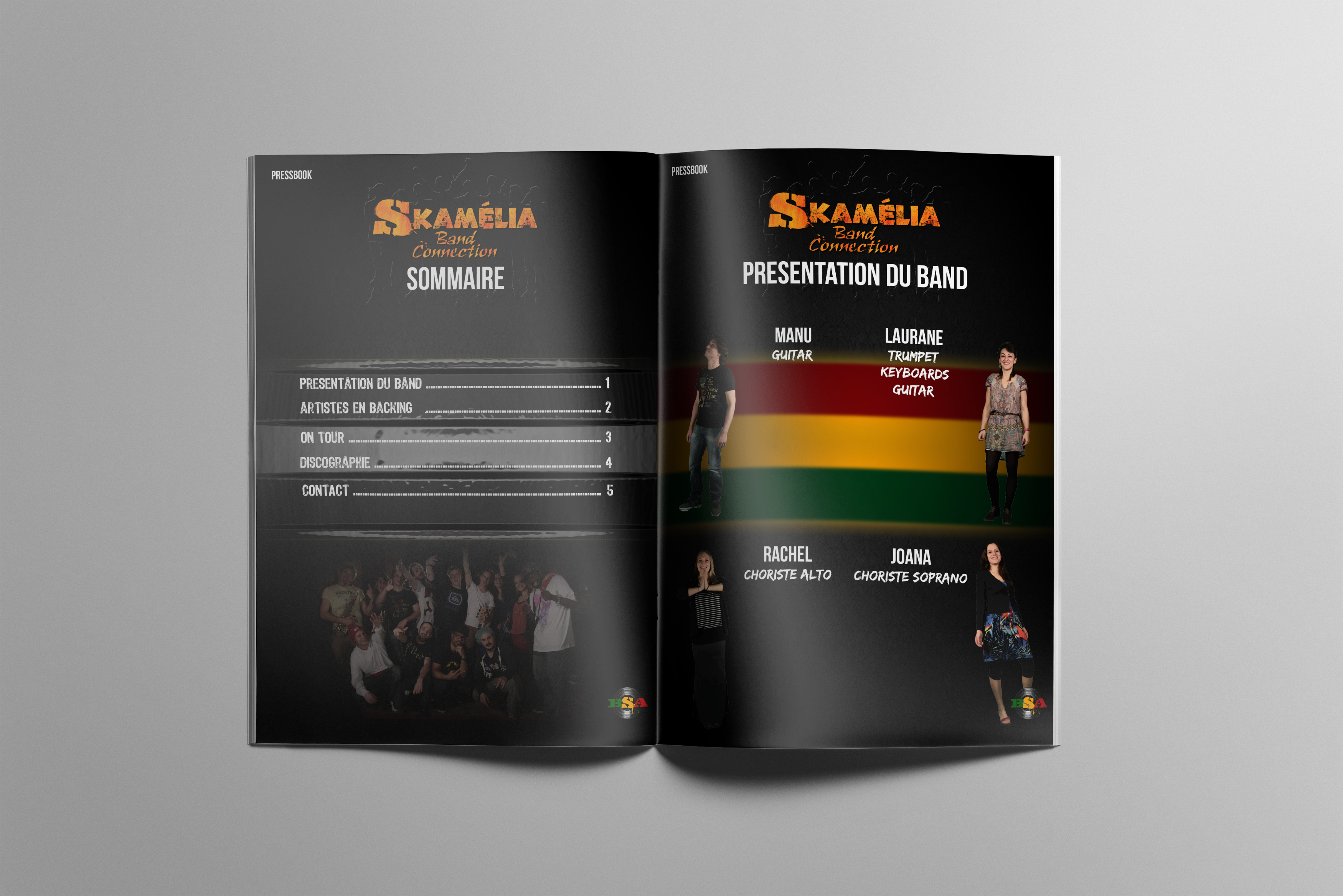 Pressbook, Skamélia Band Connection