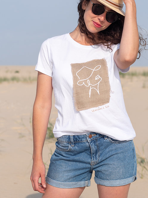 Tee shirt blanc Lady