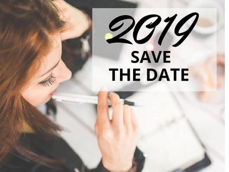 Важные даты 2019