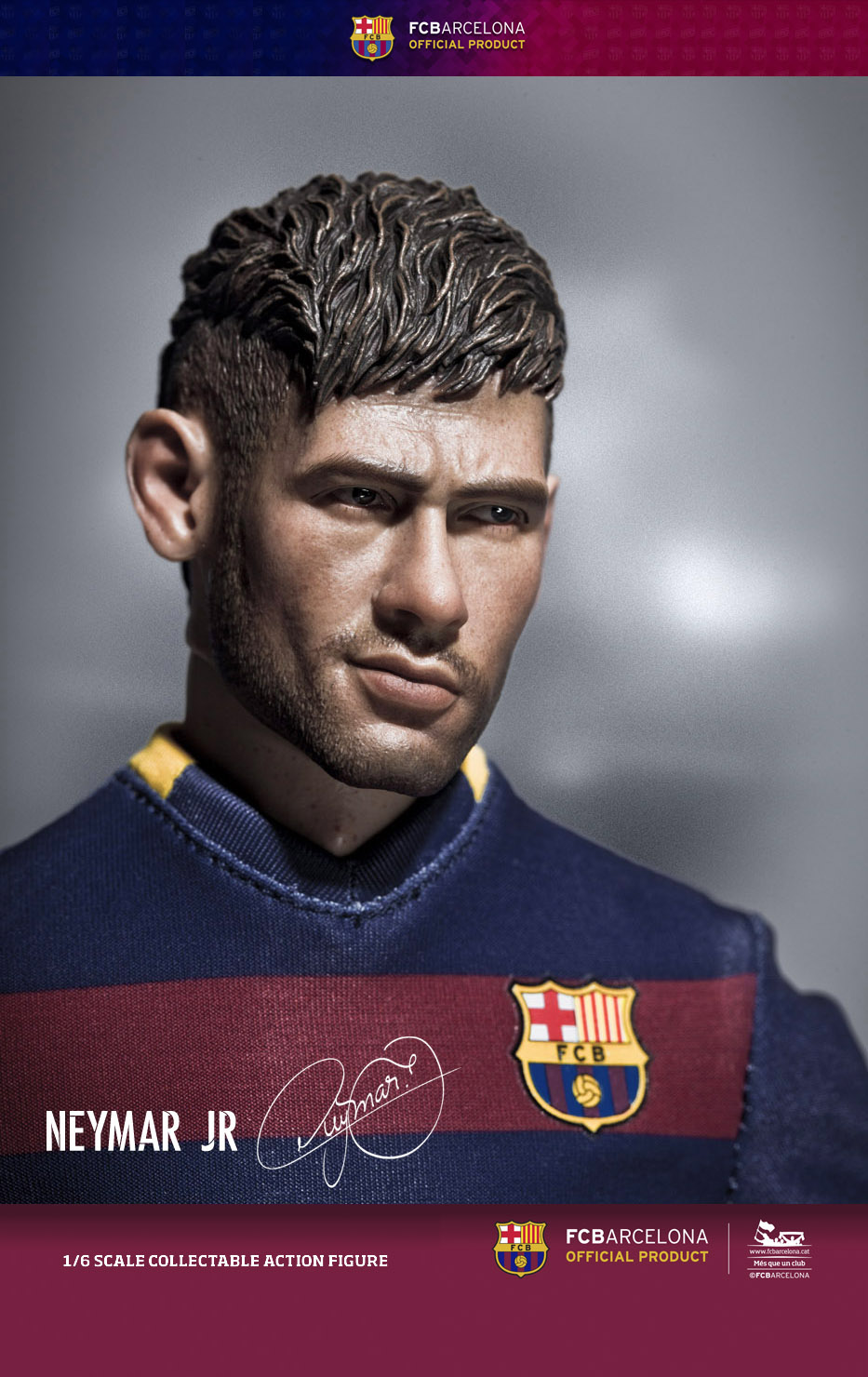 Neymar Jr 1//6th Scale ZCWO FCBarcelona 2015//16 Away Kit