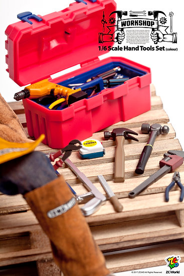 1/6 Scale Hand Tools Set (Colour)