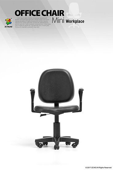 1/6 Scale Office Chair (Black)