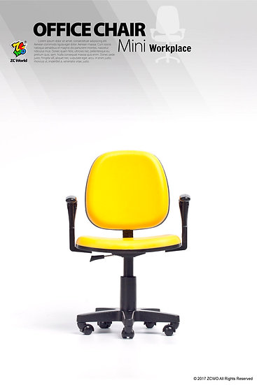1/6 Scale Office Chair (Yellow)