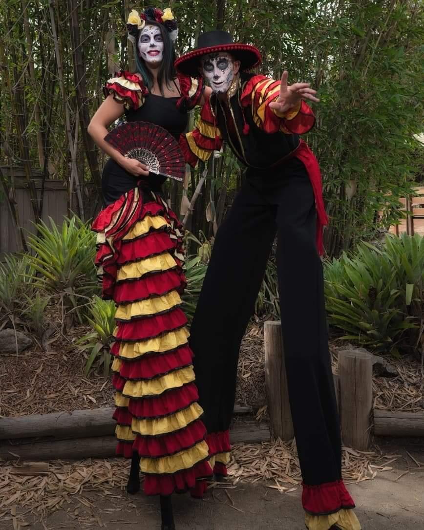 Flamenco Stilt Walkers