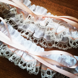 Hand Made Lace Garters