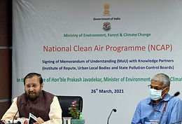 MoU signed in 132 cities under National Clean Air Programme(NCAP)