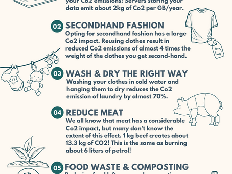 7 surprising ways of reducing Co2, every day