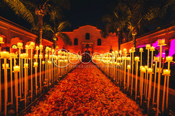 Candles Path with petals