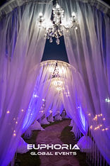Walk way for you event with lighting and chandeliers