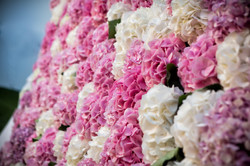 Wall of flowers for VIP event