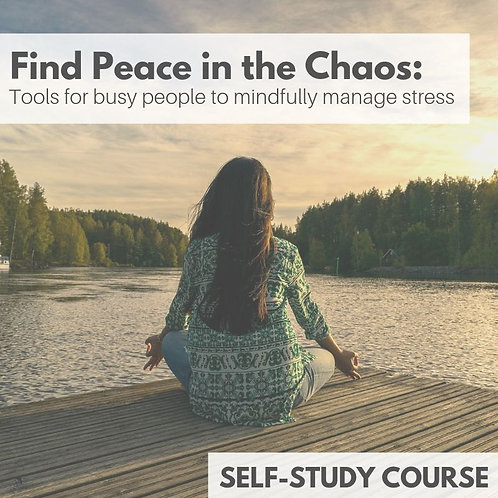 Find Peace in the Chaos: tools for busy people to mindfully manage stress