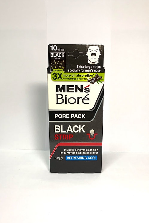 BIORE MEN BLACK NOSE DEEP CLEANSING PORE PACK REFRESHING COOL 10 STRIPS