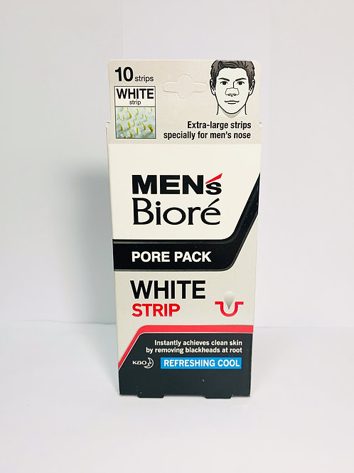 BIORE MEN WHITE NOSE DEEP CLEANSING PORE PACK REFRESHING COOL 10 STRIPS