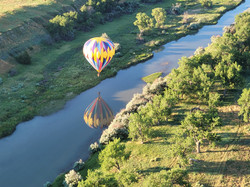Hot air balloon reflection