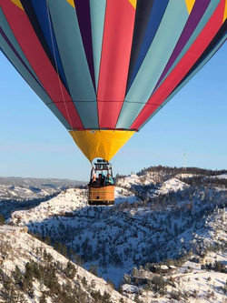 Hot Air Balloon Winter