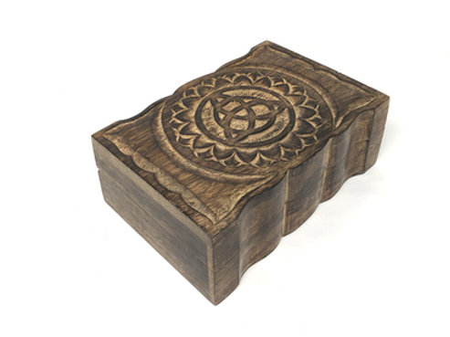 Wooden Handicraft Storage box 6 x 9 inch Triquetra
