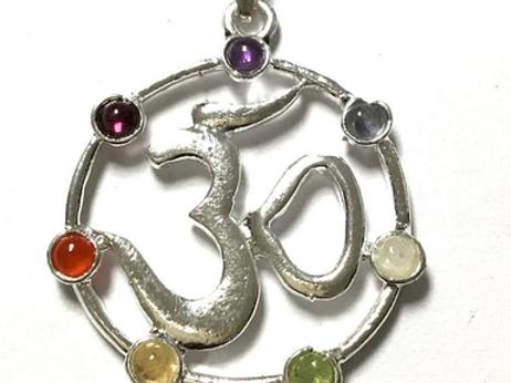 Om 7 Chakra pendant