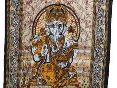 Indian Cotton Tapestry Ganesha Ladoo (135 x 220 cm)