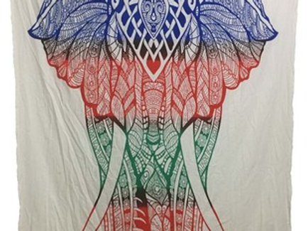Indian Cotton Tapestry Elephant (135 x 220 cm)