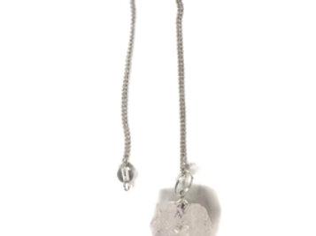 Rough stone pendulum Clear Quartz