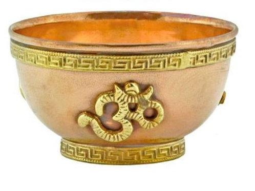 Copper Offering Bowls 3'' (Om)