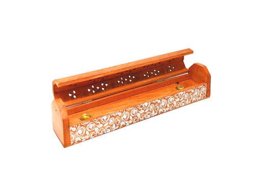 Wooden Coffin Box (Orange silver)