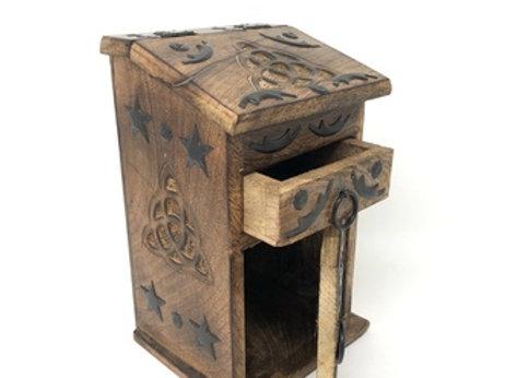 Wooden Storage Almirah Triquetra