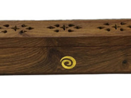 Wooden Coffin Box (Spiral)