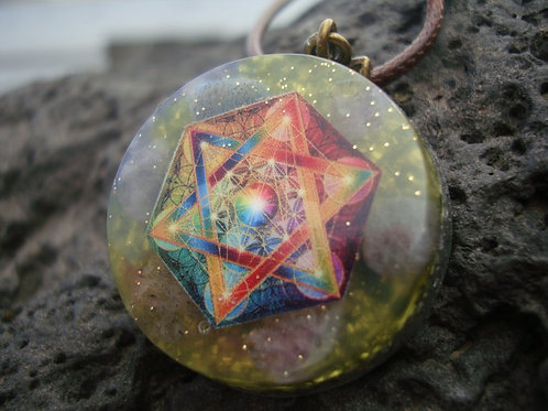 "Orgone energy ""Metatron's Cube"" Power Pendant"