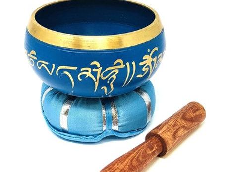 Tibetan Singing Bowl Om Mani (Indigo)