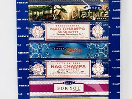 Satya Set of 7 Nag champa Superhit Natural Aastha For you Mantram
