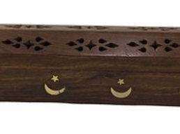 Wooden Coffin Box (Moon Star)