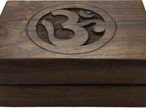 Wood Storage Box (Om) 4x6 inch