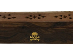 Wooden Coffin Box (Skull)