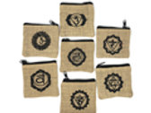 Cotton Jute Pouch set of 7 (5''x4'') 7 Chakra