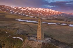 Сторожевая башня на границе Чечни и