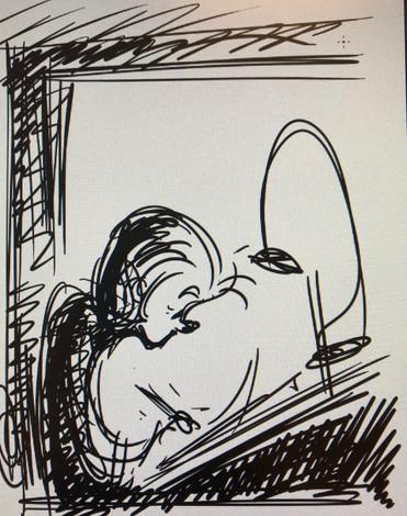 Kelly's sketch of Kendal Cronkhite