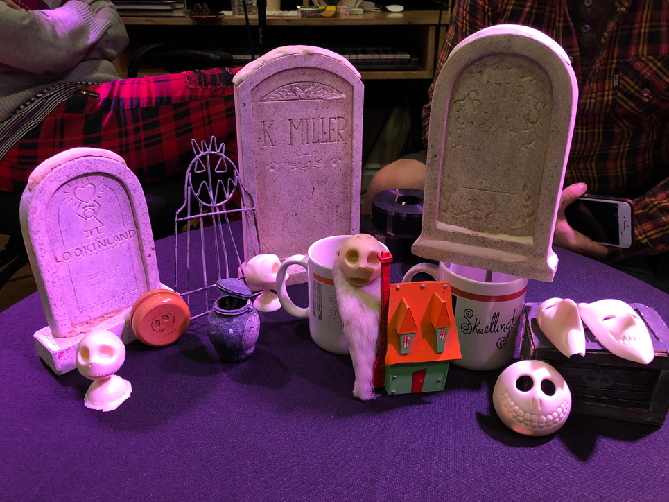 Graveyard props from Jack's Lament sequence