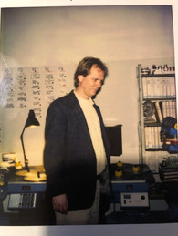 Stan in the editing room. 1992
