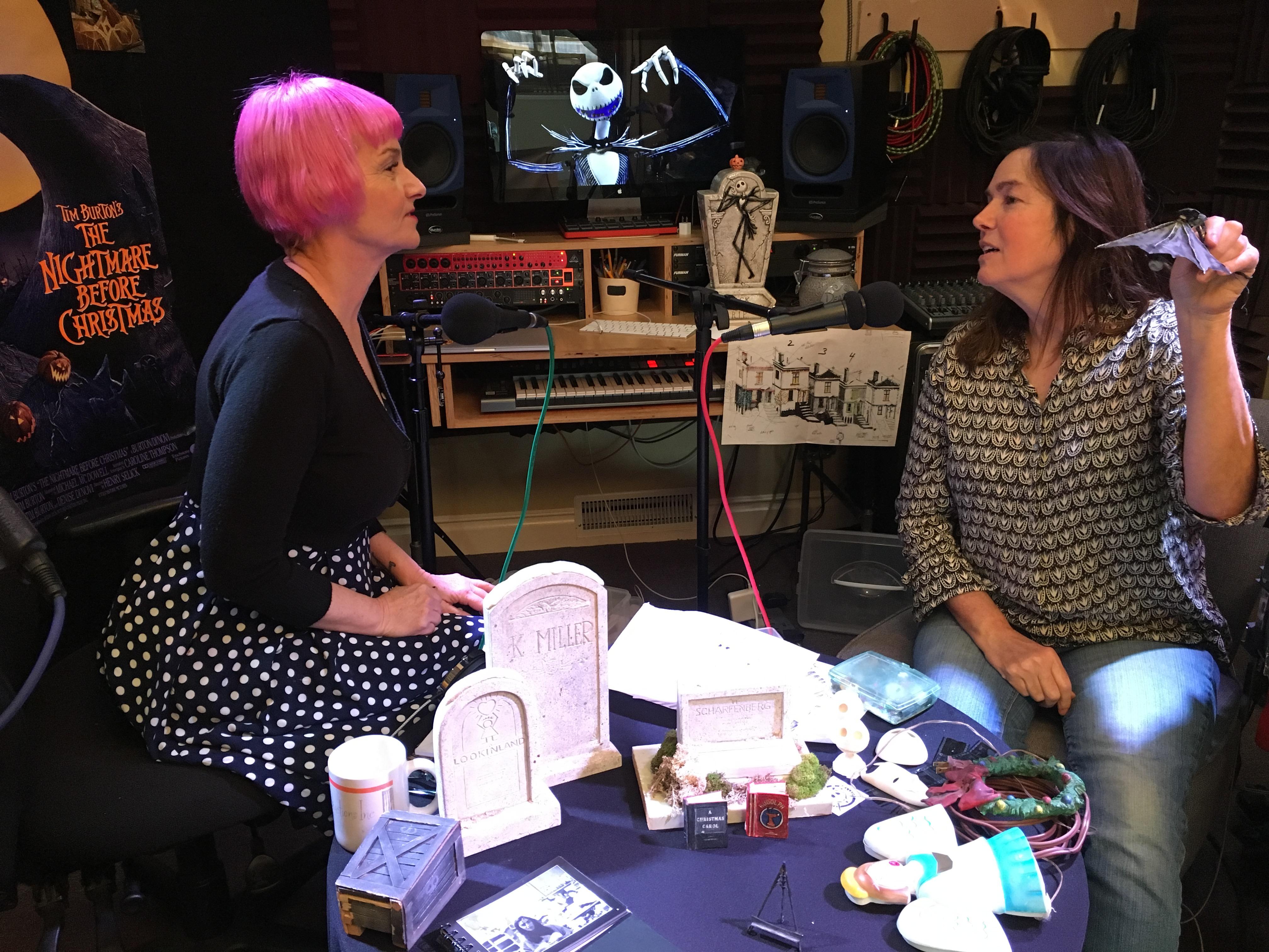 Gretchen & Kat in studio