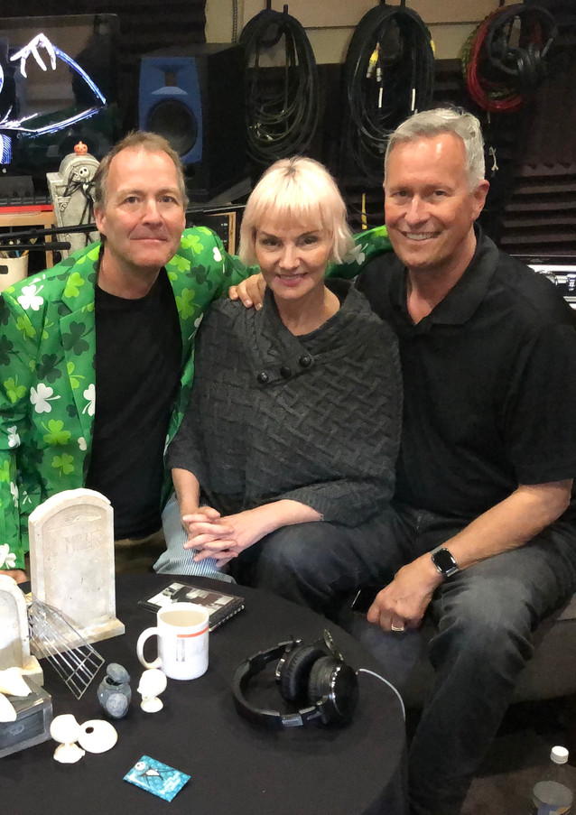 Kevin in studio with Todd & Kat