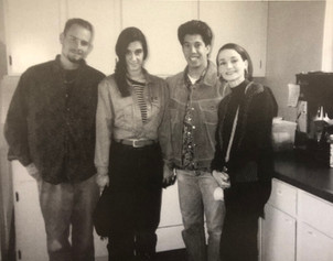 Allison in the Skellington Kitchen with Shane Francis, Mike Cachuela, and Kat Miller.