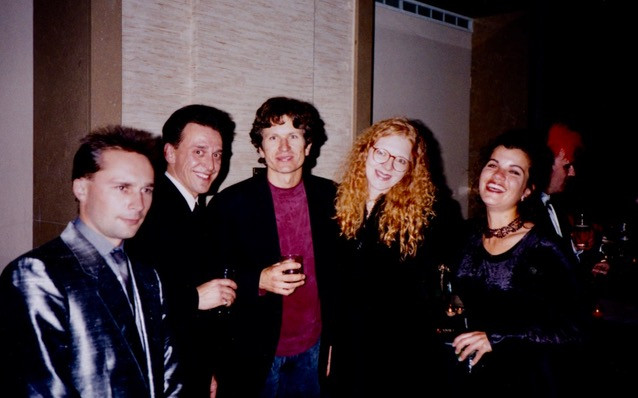 Bonita at the Nightmare wrap party with Marc Ribaud, Norm De Carlo, Rick Heinrichs, and Paula Lucchesi. Paul Berry lurking in the background.