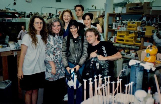 Bonita with her Fabrication Crew. Skellington Studio 1992.