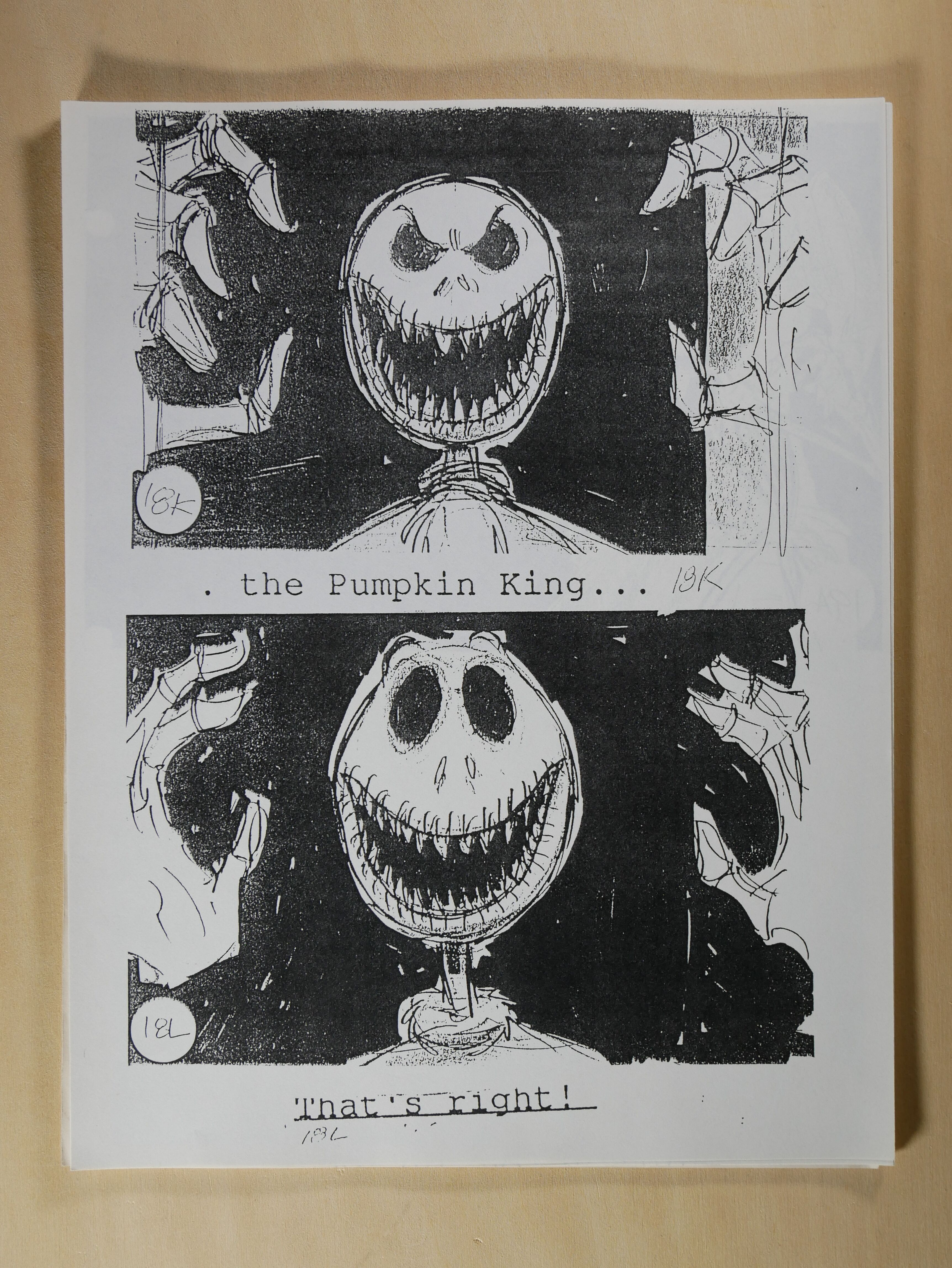 Storyboards for Jack's Lament
