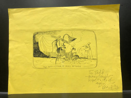A sketch Deane gave to Todd at the end of production.