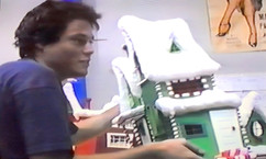 Bill with the first set piece he built for Nightmare Before Christmas.