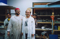 In the Model Shop with Tom Proost, Jerome Ranft, Mitch Romanauski, and Bo Henry. Bill talks about all these guys in his episode.