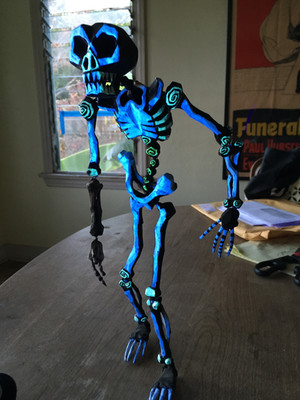 One of Bill's skeletons from Oogies's set.