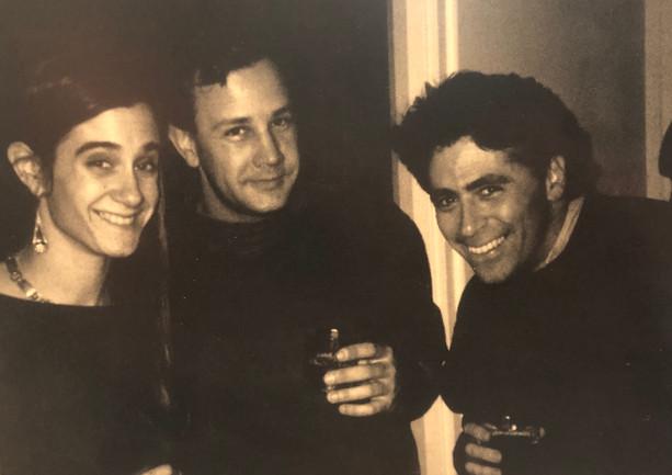 Art Coordinator Allison Abbate, Mold Maker Rob Ronning, and Dan Mason at the Skellington Xmas party 1991